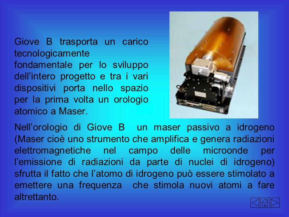 Giove B trasporta un carico tecnologicamente fondamentale per lo sviluppo dellintero progetto e tra i vari dispositivi porta nello spazio per la prima