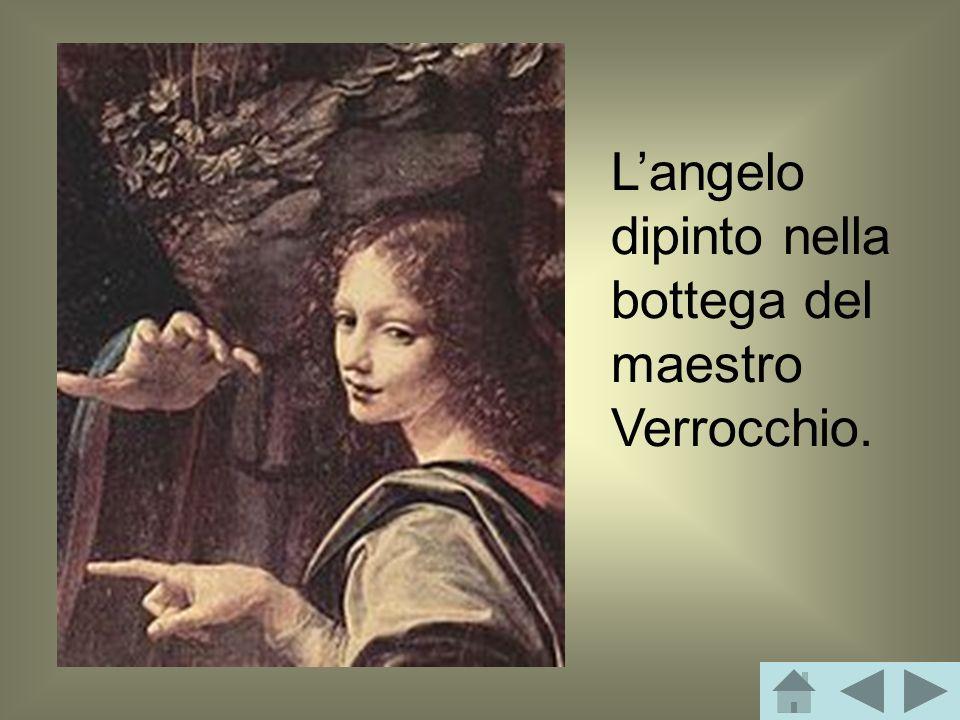 Langelo dipinto nella bottega del maestro Verrocchio.