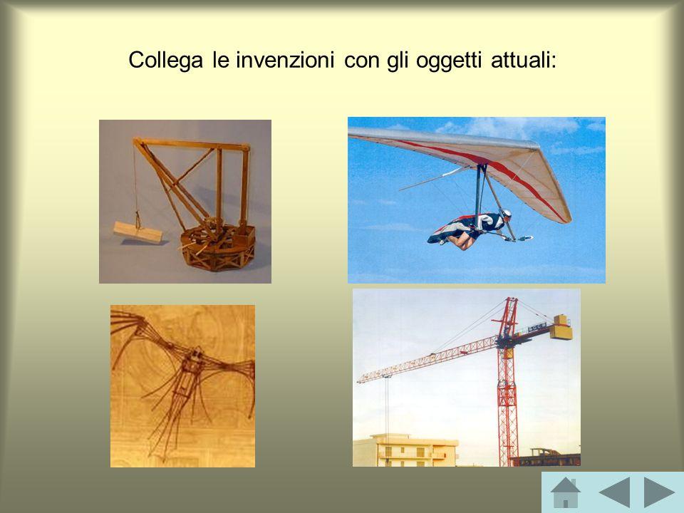 Collega le invenzioni con gli oggetti attuali: