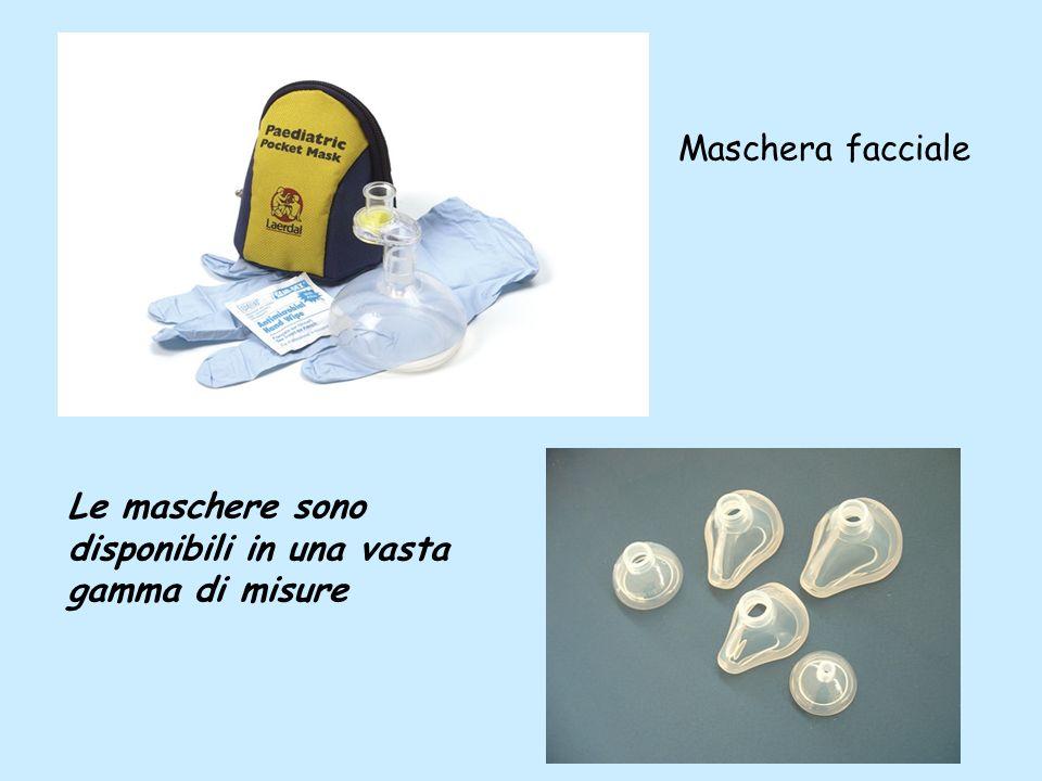 Le maschere sono disponibili in una vasta gamma di misure Maschera facciale