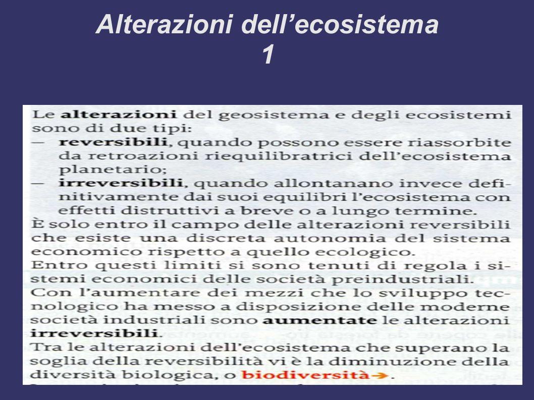 Alterazioni dellecosistema 1