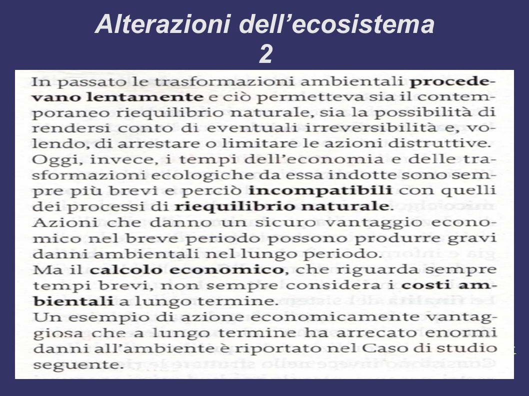 Alterazioni dellecosistema 2