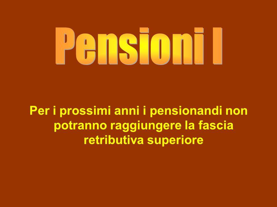 Per i prossimi anni i pensionandi non potranno raggiungere la fascia retributiva superiore