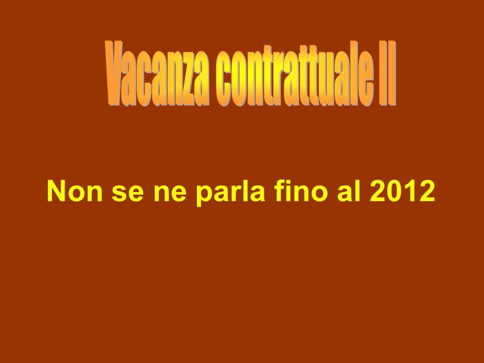Non se ne parla fino al 2012