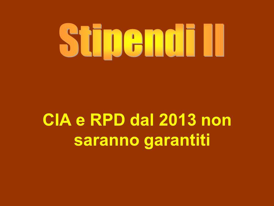 CIA e RPD dal 2013 non saranno garantiti
