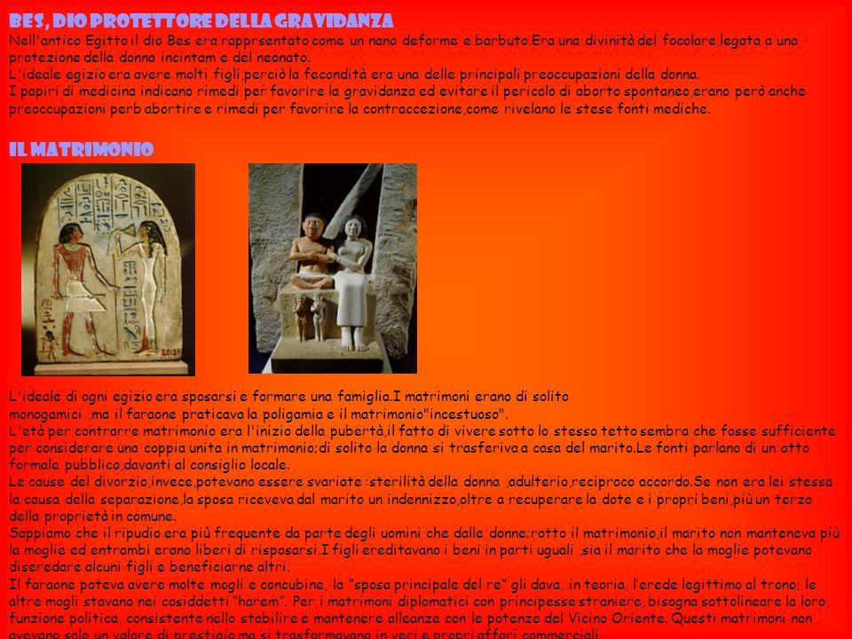 BES, DIO PROTETTORE DELLA GRAVIDANZA Nell'antico Egitto il dio Bes era rapprsentato come un nano deforme e barbuto.Era una divinità del focolare,legat