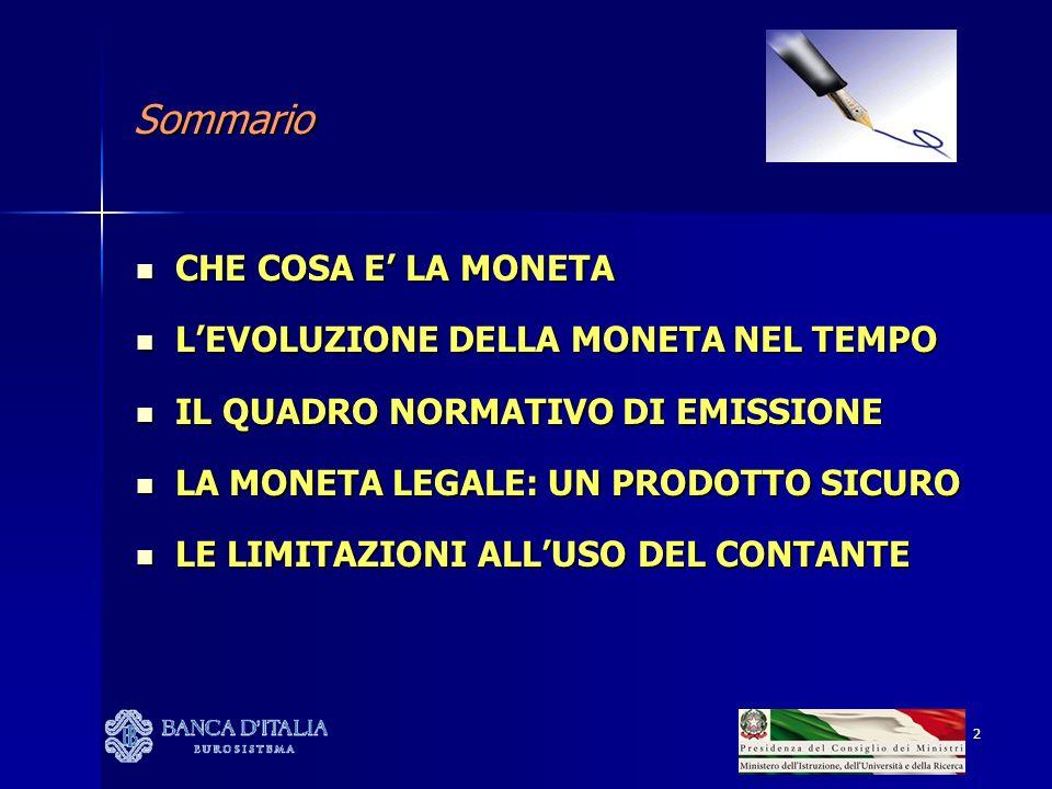 13 IL QUADRO NORMATIVO DI EMISSIONE BANCONOTE: BANCONOTE: ART.