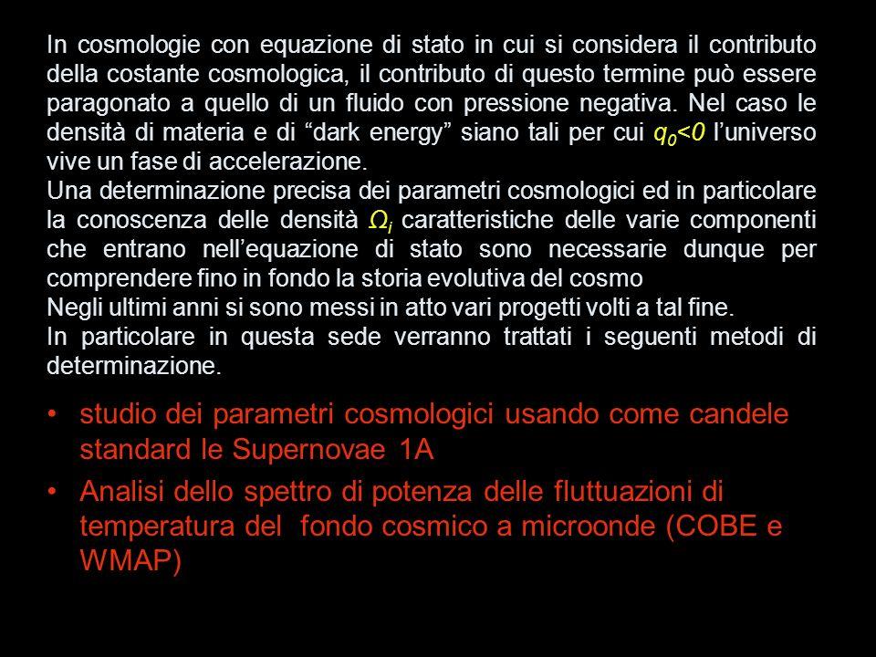 In cosmologie con equazione di stato in cui si considera il contributo della costante cosmologica, il contributo di questo termine può essere paragona