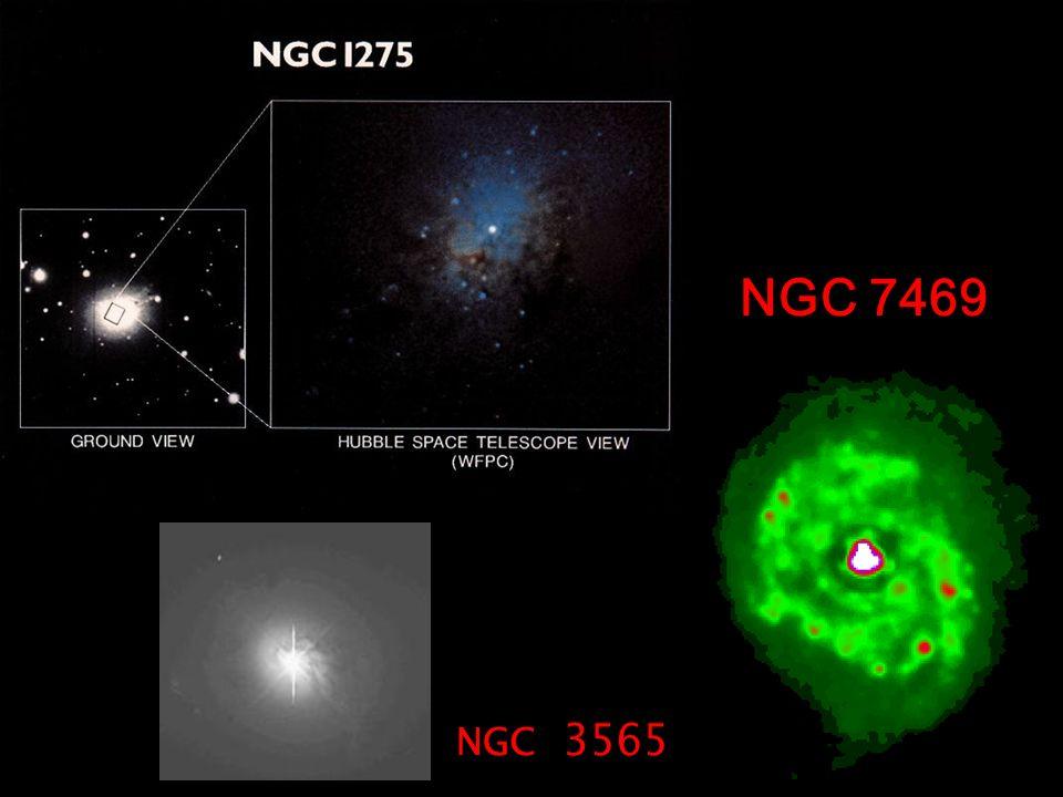 QUASARs A basse luminosità sono indistinguibili dalle Seyferts 1s: questo è dovuto al fatto che in realtà si tratta probabilmente di una classe di oggetti simili divisa in due da limiti osservativi (impossibilità di risolvere galassie con bassa brillanza superficiale attorno a quasar molto brillanti).