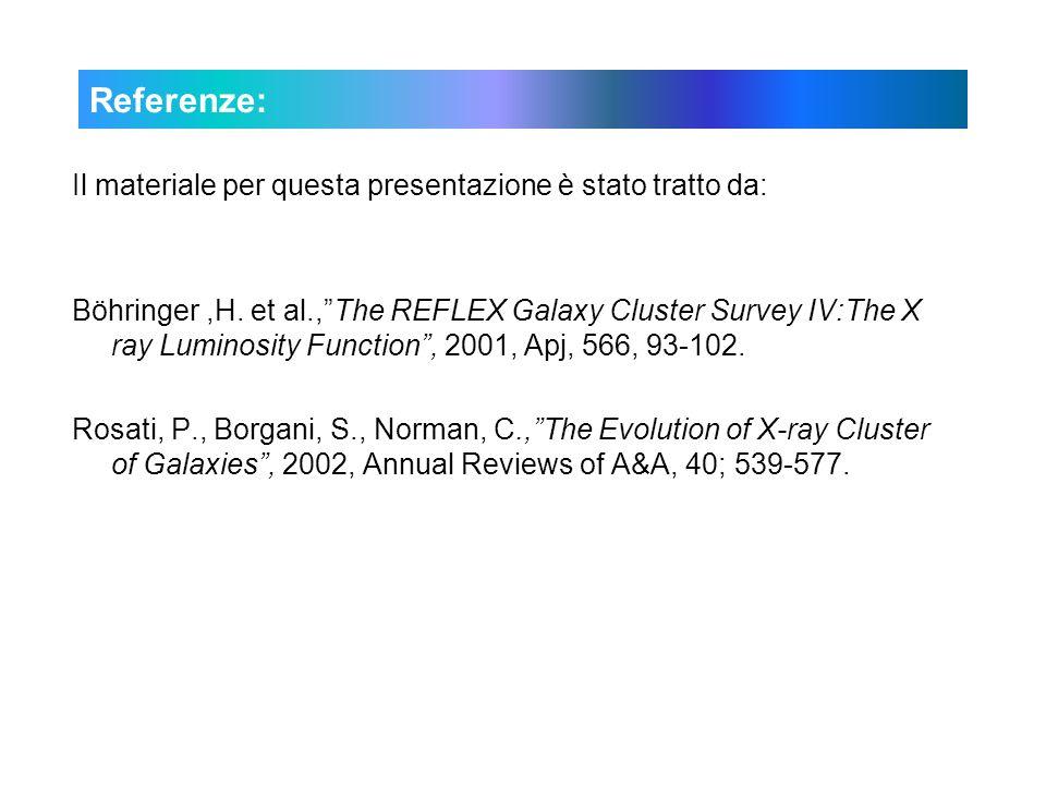 Referenze: Il materiale per questa presentazione è stato tratto da: Böhringer,H.