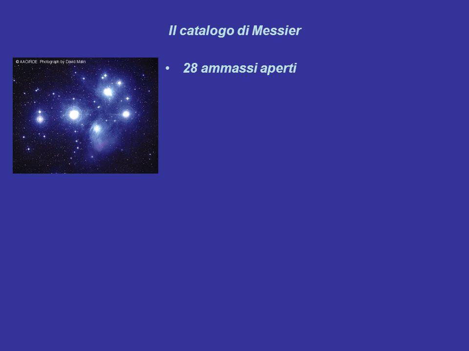Il catalogo di Messier 28 ammassi aperti