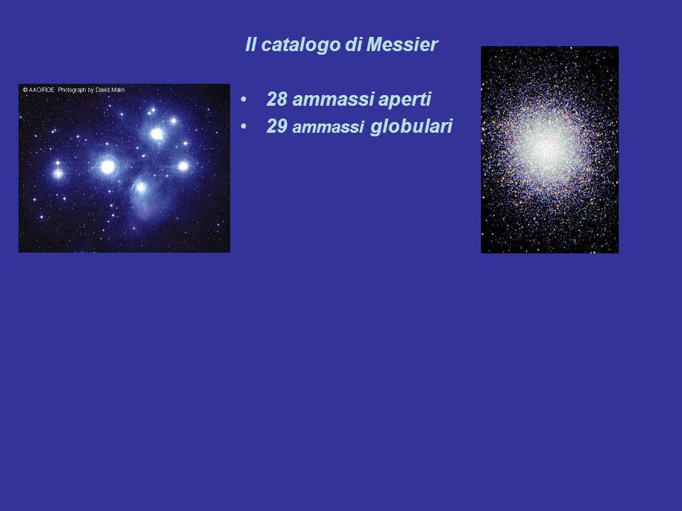 Il catalogo di Messier 28 ammassi aperti 29 ammassi globulari