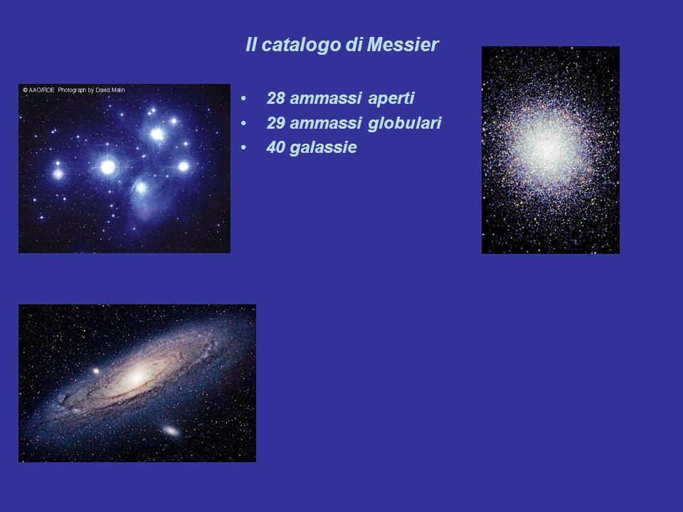 Il catalogo di Messier 28 ammassi aperti 29 ammassi globulari 40 galassie