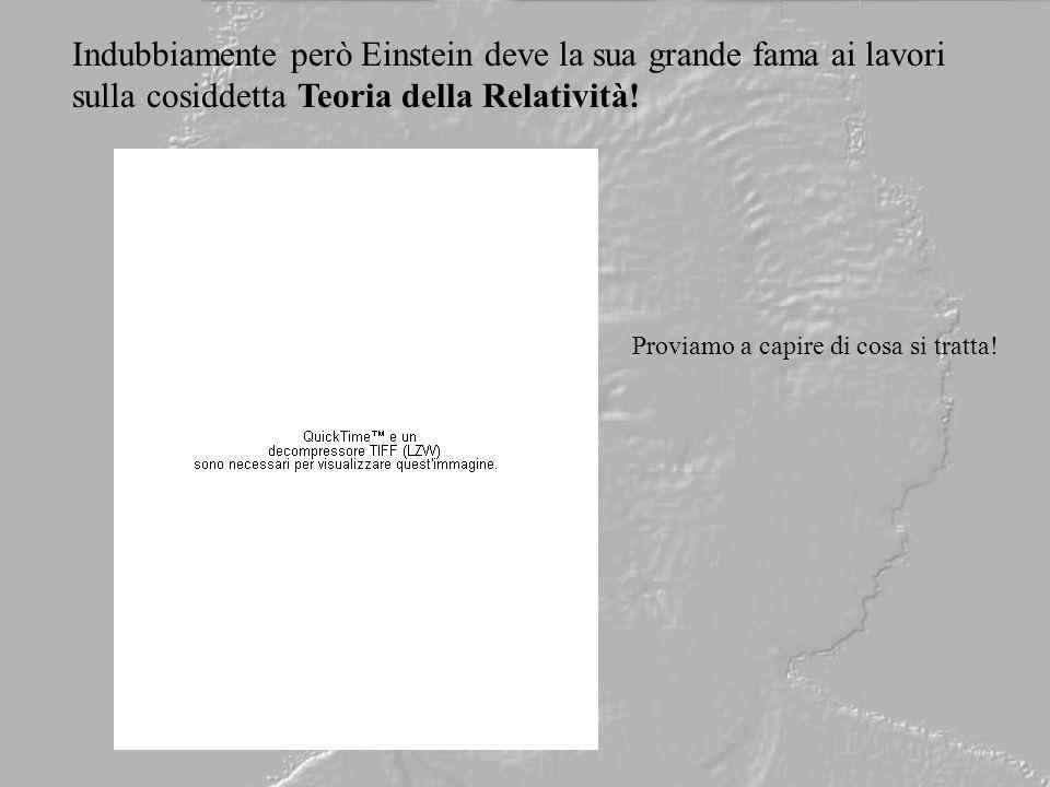 Indubbiamente però Einstein deve la sua grande fama ai lavori sulla cosiddetta Teoria della Relatività! Proviamo a capire di cosa si tratta!