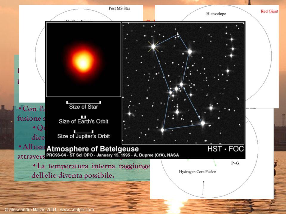 Le Ultime Fasi Evolutive Il parametro più importante che determina l evoluzione di una stella è la sua massa.