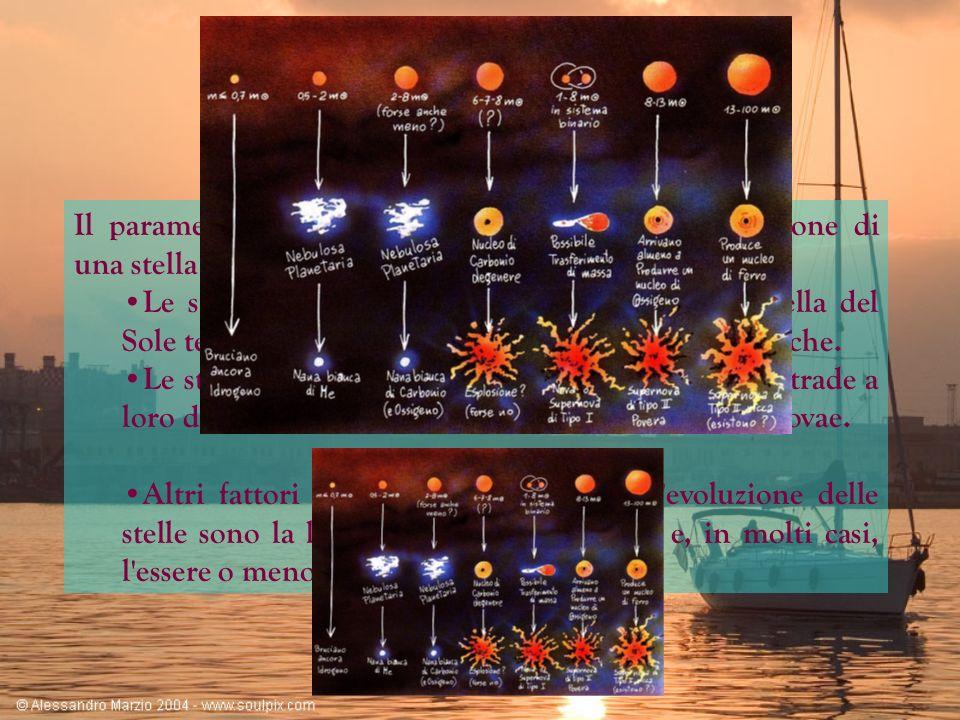 Le nebulose planetarie Quando una stella di massa non troppo grande giunge alla fine del suo ciclo di fusioni nucleari evolve diventando: Quando una stella di massa non troppo grande giunge alla fine del suo ciclo di fusioni nucleari evolve diventando: sempre più fredda alla superficie (circa 3500 gradi); sempre più fredda alla superficie (circa 3500 gradi); di colore rosso; di colore rosso; e di dimensioni sempre maggiori.