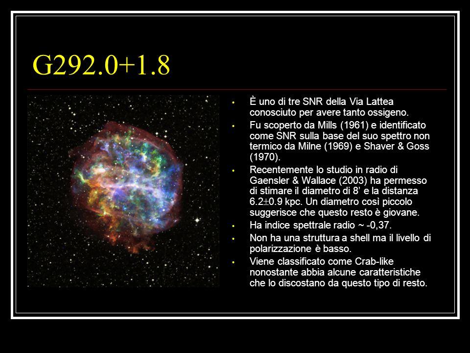 G292.0+1.8 È uno di tre SNR della Via Lattea conosciuto per avere tanto ossigeno. Fu scoperto da Mills (1961) e identificato come SNR sulla base del s