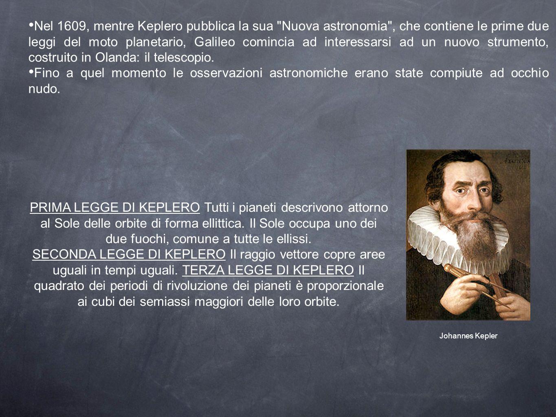 Nel 1609, mentre Keplero pubblica la sua