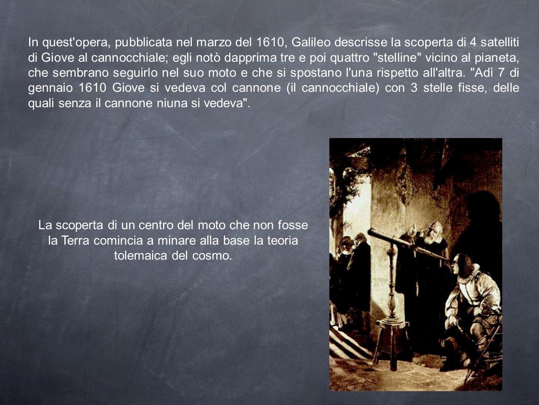 In quest'opera, pubblicata nel marzo del 1610, Galileo descrisse la scoperta di 4 satelliti di Giove al cannocchiale; egli notò dapprima tre e poi qua