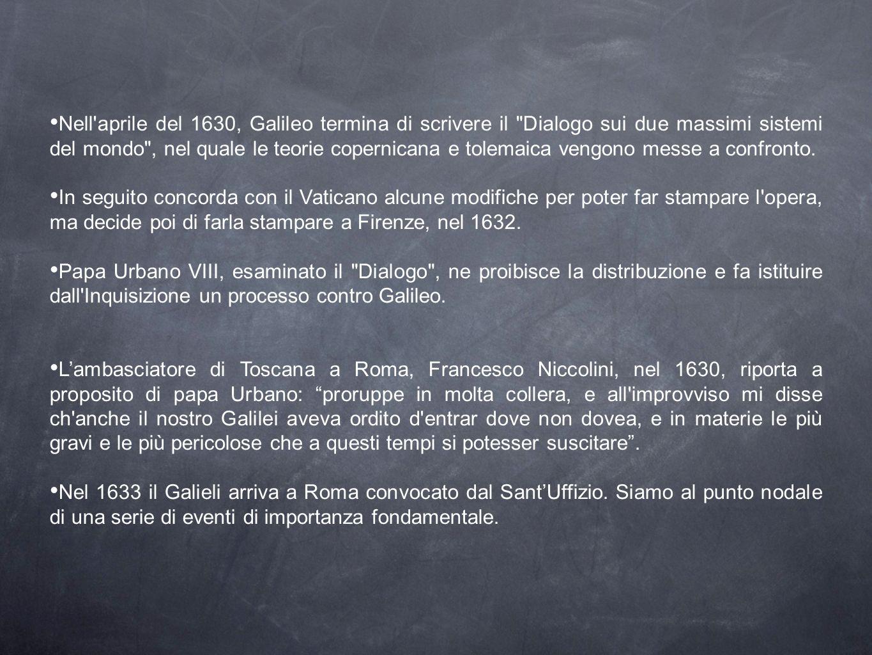 Nell'aprile del 1630, Galileo termina di scrivere il