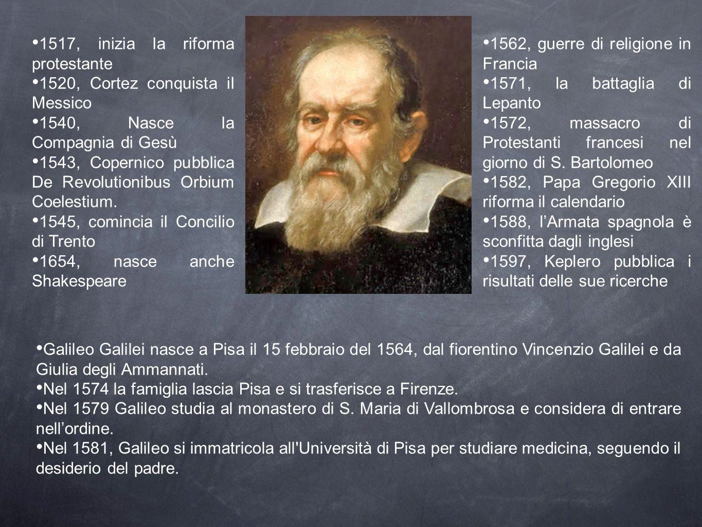 Durante gli studi, si appassiona alla fisica e nel 1583 formula la teoria dell isocronismo del pendolo, intuito osservando le oscillazioni di una lampada nella Cattedrale di Pisa.