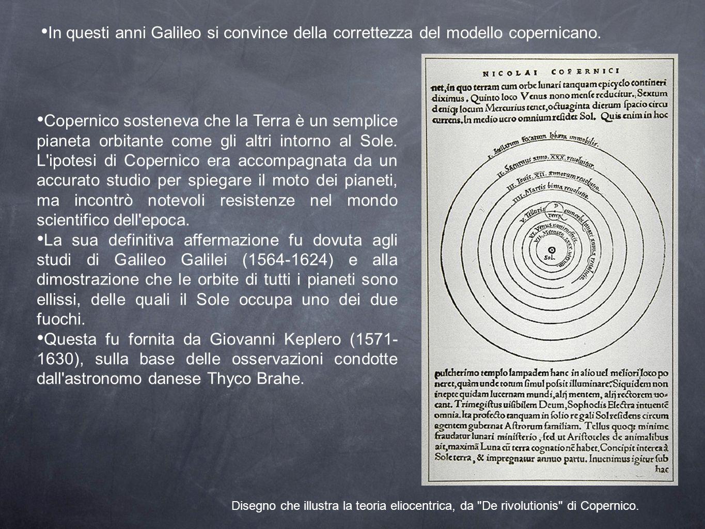 Copernico sosteneva che la Terra è un semplice pianeta orbitante come gli altri intorno al Sole. L'ipotesi di Copernico era accompagnata da un accurat