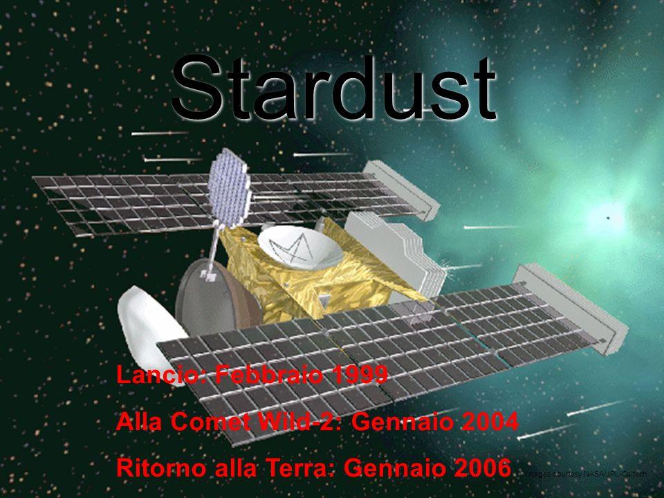 Stardust Lancio: Febbraio 1999 Alla Comet Wild-2: Gennaio 2004 Ritorno alla Terra: Gennaio 2006 Images courtesy NASA/JPL-Caltech