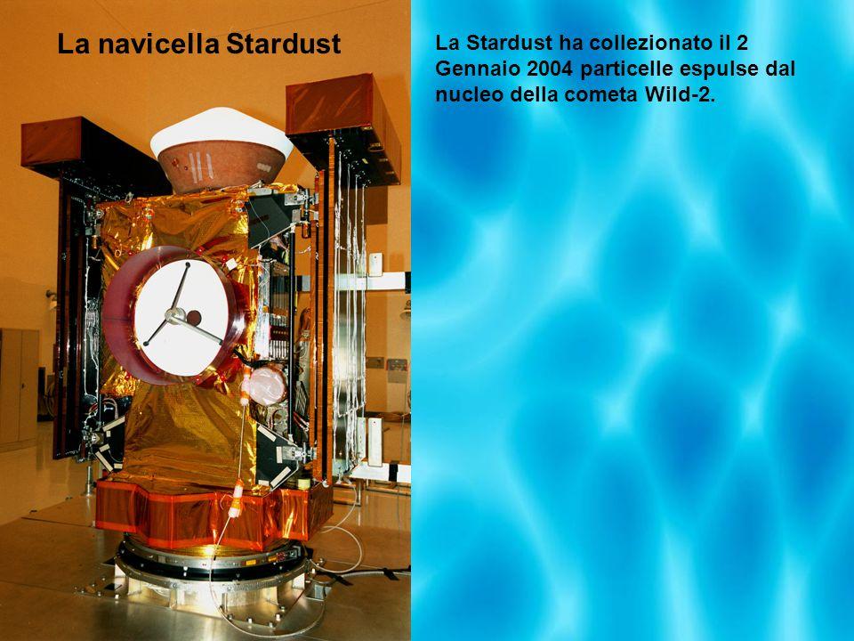 La Stardust ha collezionato il 2 Gennaio 2004 particelle espulse dal nucleo della cometa Wild-2. La navicella Stardust