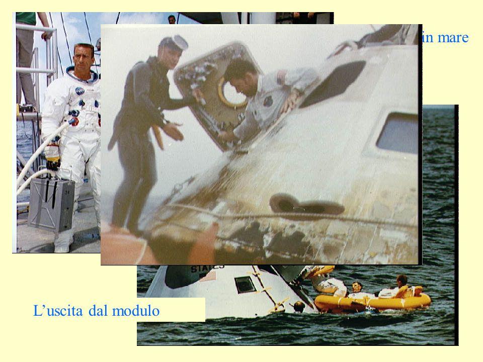 Lequipaggio in posa... Il recupero in mare Luscita dal modulo