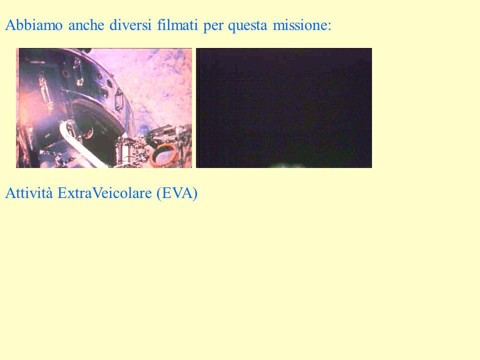 Abbiamo anche diversi filmati per questa missione: Attività ExtraVeicolare (EVA)