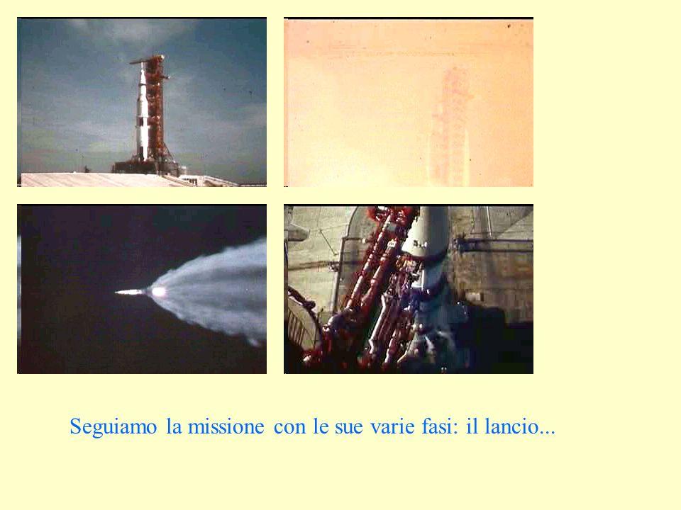 Seguiamo la missione con le sue varie fasi: il lancio...