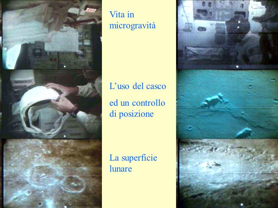 Vita in microgravità Luso del casco ed un controllo di posizione La superficie lunare
