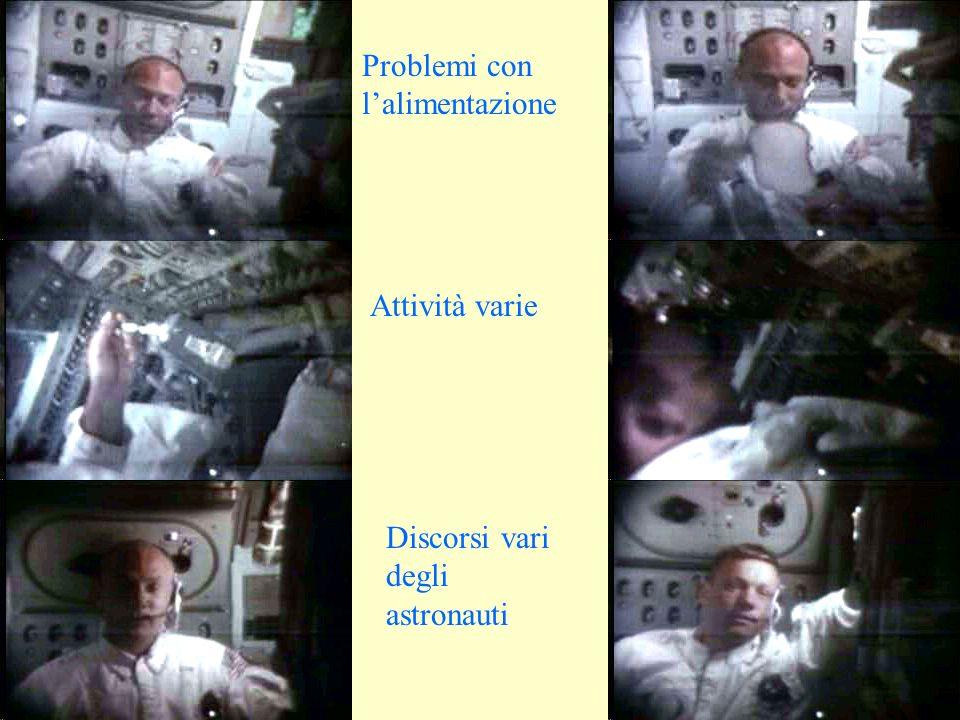 Problemi con lalimentazione Attività varie Discorsi vari degli astronauti
