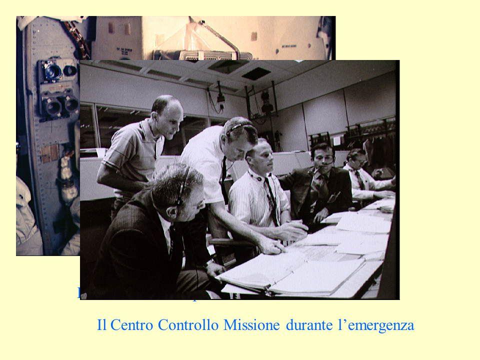 Il filtro di fortuna per lanidride carbonica Il Centro Controllo Missione durante lemergenza