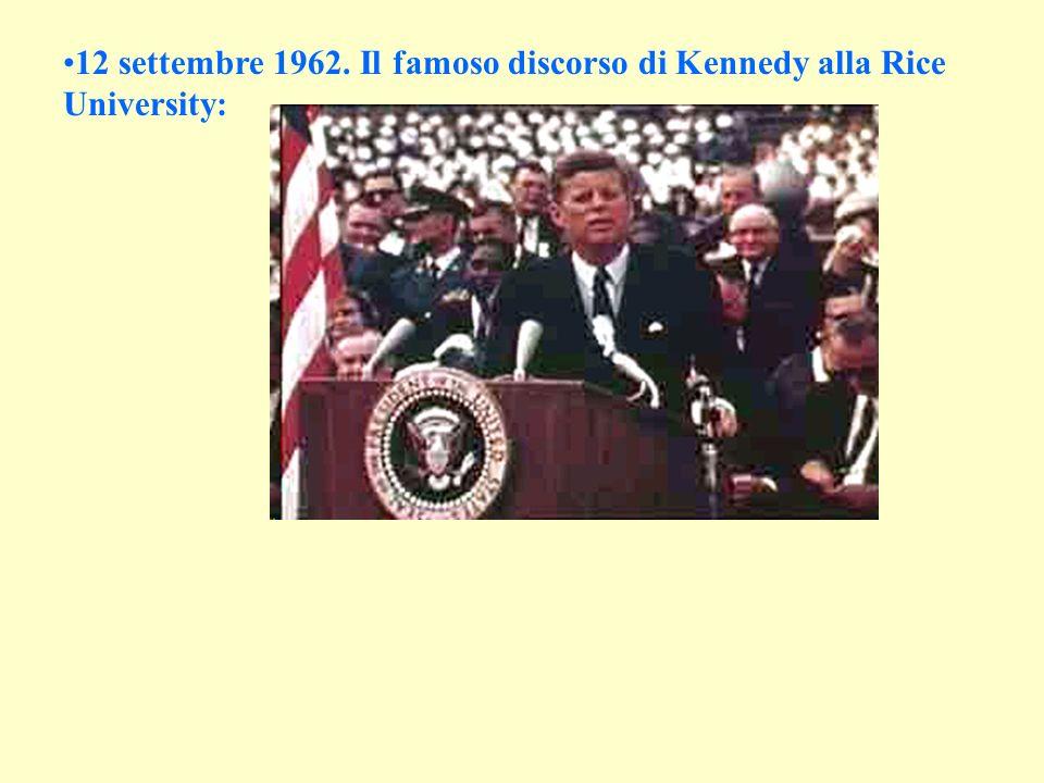 12 settembre 1962. Il famoso discorso di Kennedy alla Rice University: