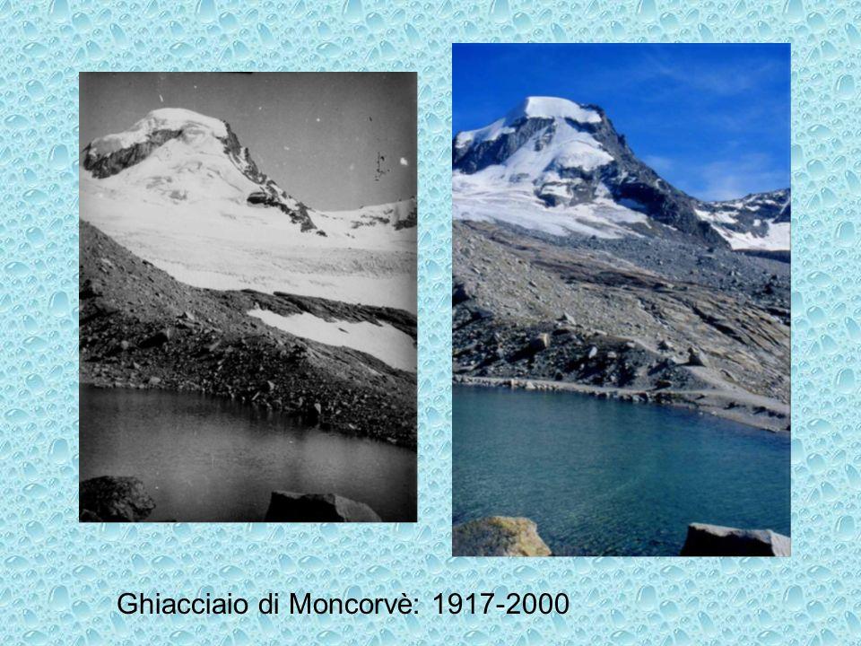 Ghiacciaio di Moncorvè: 1917-2000