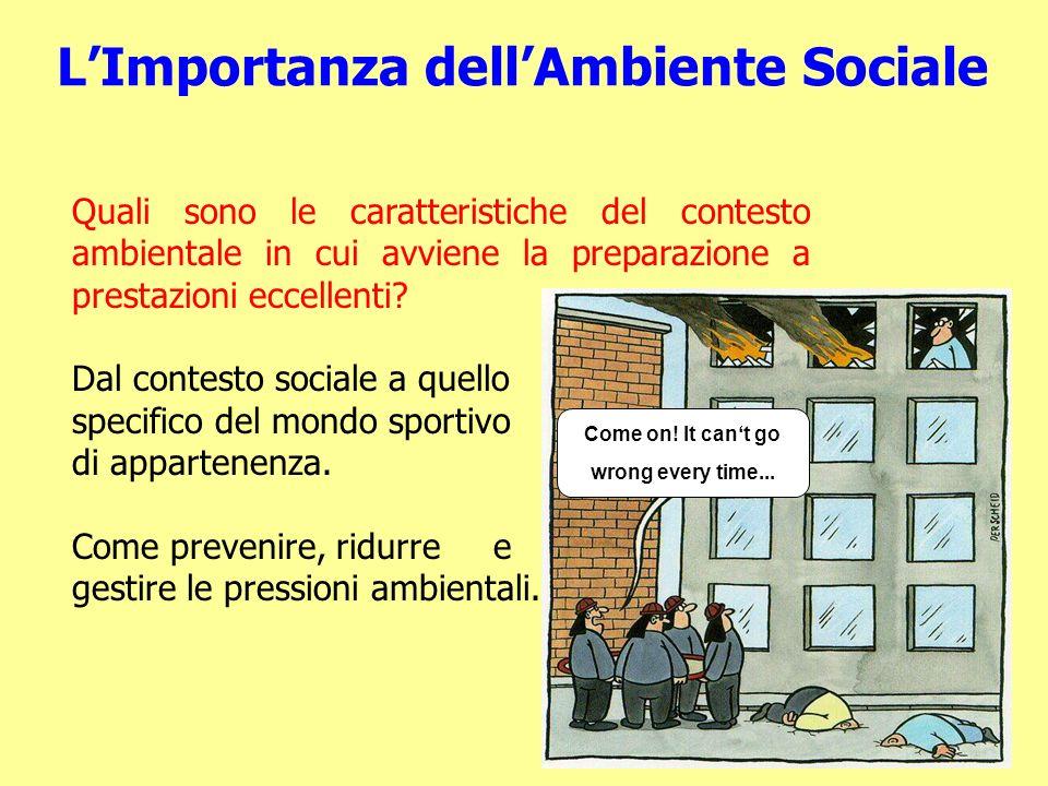 LImportanza dellAmbiente Sociale Quali sono le caratteristiche del contesto ambientale in cui avviene la preparazione a prestazioni eccellenti.