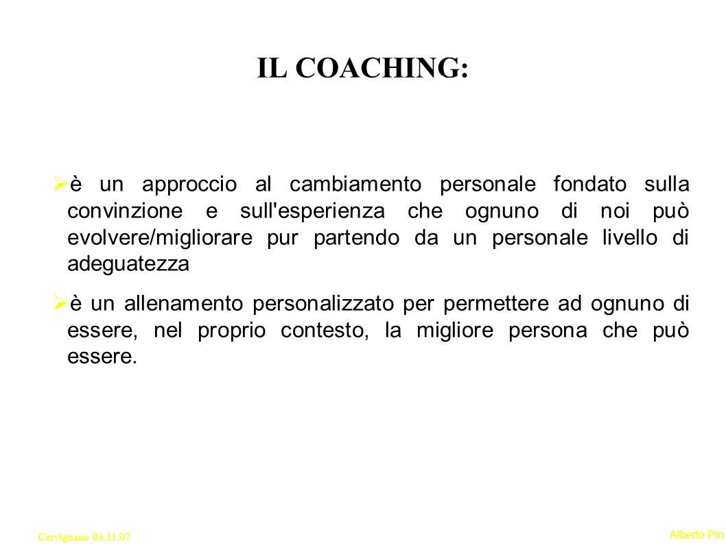 Alberto Pin Cervignano 03.11.07 SOLO UN CONTINUO RINNOVAMENTO POTRA PERMETTERE DI CONTINUARE A RIPETERE I SUCCESSI OTTENUTI FIN ORA