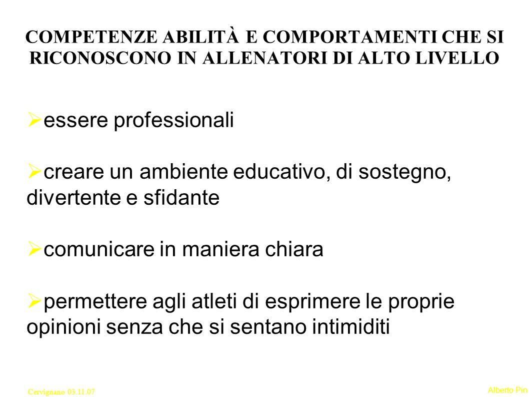 Alberto Pin Cervignano 03.11.07 Gestione del sé; Gestione del ruolo; Gestione delle informazioni; Gestione dello stress; Gestione dei rapporti interpersonali; Gestione del tempo.