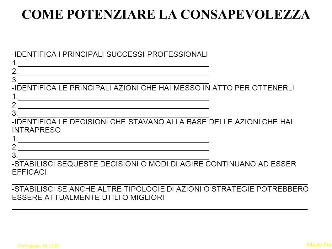 Alberto Pin Cervignano 03.11.07 3° ASSIOMA DELLA COMUNICAZIONE Ogni comunicazione ha un aspetto di contenuto e un aspetto di relazione, di modo che il secondo classifica il primo ed è quindi metacomunicazione.