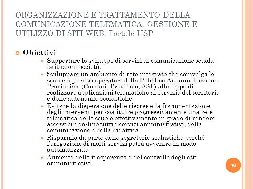 37 Ambito Azioni formative rivolte al personale delle scuole e interno dell USP sull utilizzo dei nuovi servizi disponibili sul portale web 2.0 dell USP di Varese.