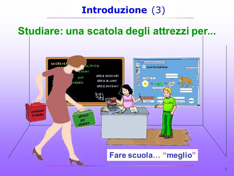 5 Introduzione (3) Studiare: una scatola degli attrezzi per... Fare scuola… meglio