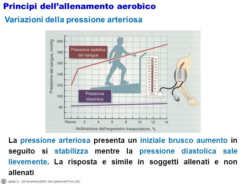 La pressione arteriosa presenta un iniziale brusco aumento in seguito si stabilizza mentre la pressione diastolica sale lievemente. La risposta e simi