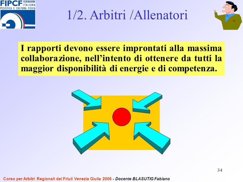 34 I rapporti devono essere improntati alla massima collaborazione, nellintento di ottenere da tutti la maggior disponibilità di energie e di competenza.