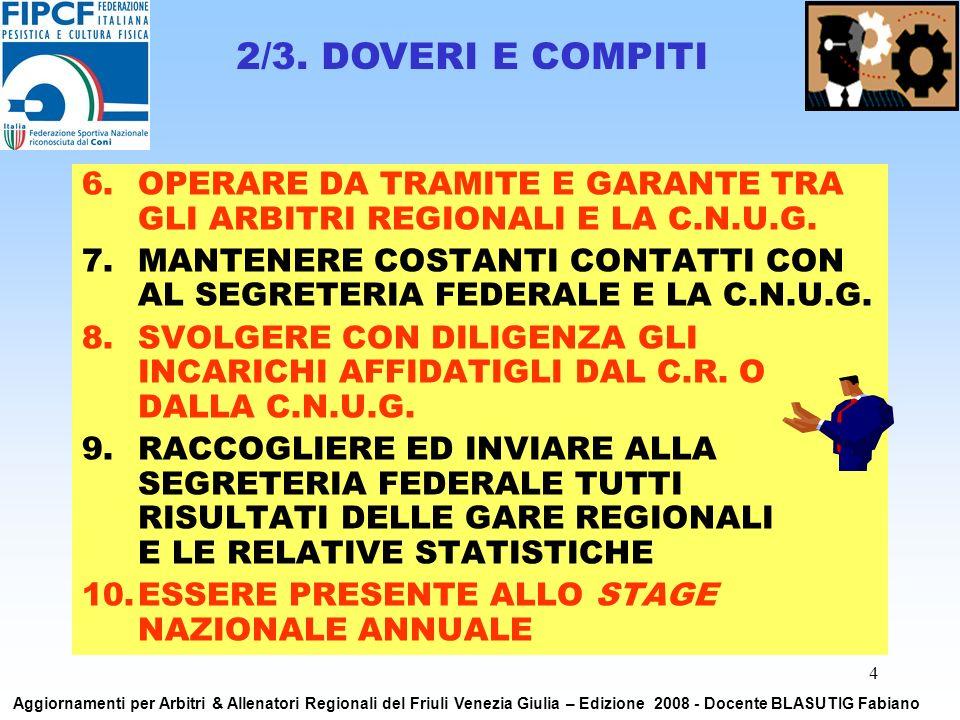 5 GRAZIE a tutti per lattenzione Aggiornamenti per Arbitri & Allenatori Regionali del Friuli Venezia Giulia – Edizione 2008 - Docente BLASUTIG Fabiano