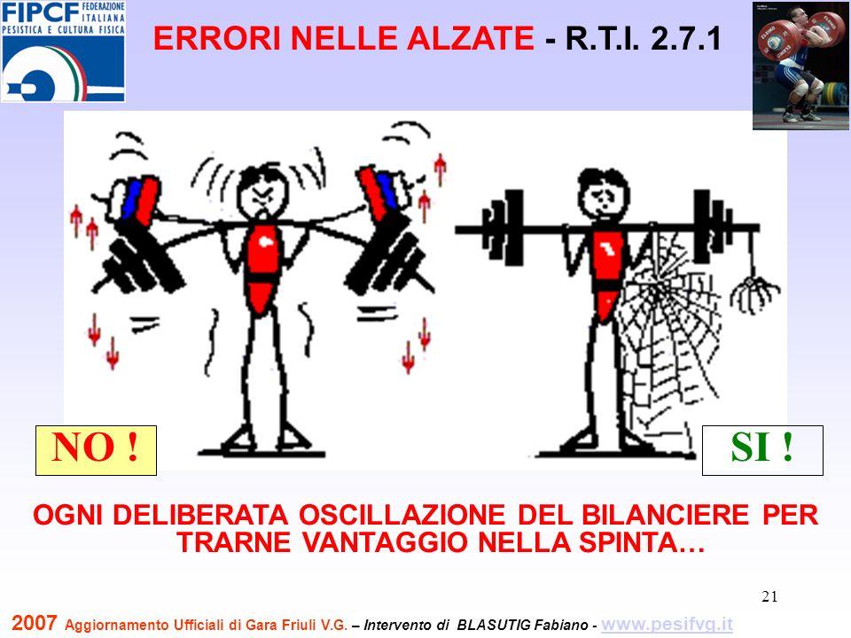 22 NON TERMINARE CON PIEDI E BILANCIERE IN LINEA PARALLELI AL PIANO DEL TRONCO NO.