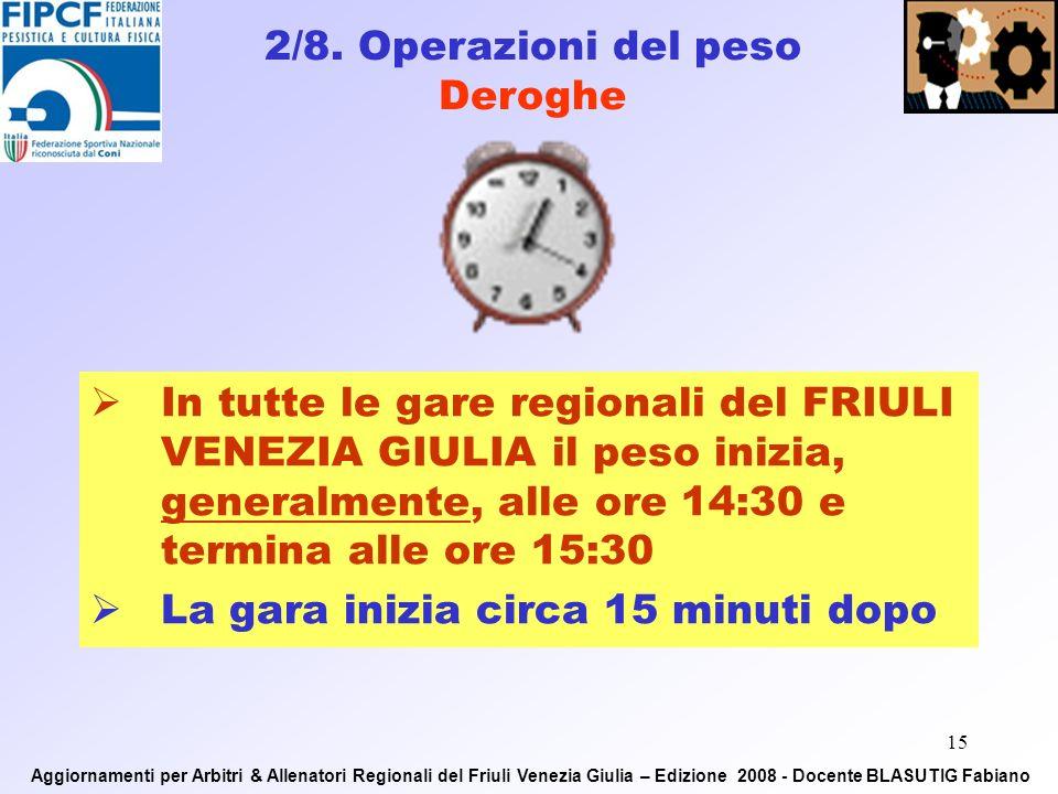 14 1. RISPETTO DEGLI ORARI DI GARA 2. DIVISA FEDERALE REGOLAMENTARE ED IN ORDINE 3.