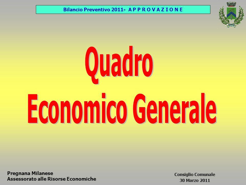 Pregnana Milanese Assessorato alle Risorse Economiche Consiglio Comunale 30 Marzo 2011