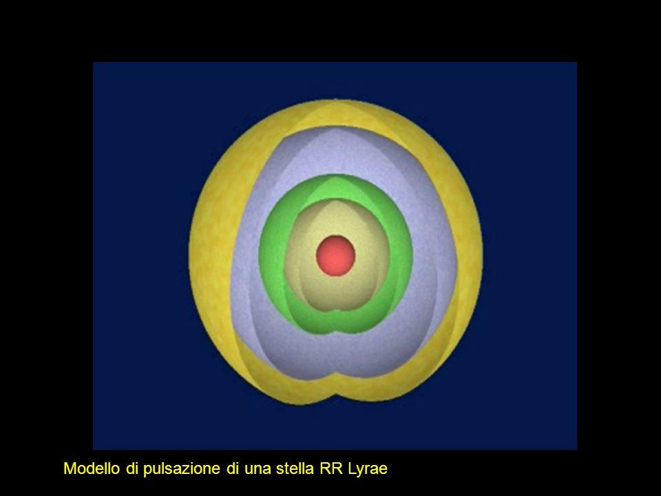 Modello di pulsazione di una stella RR Lyrae