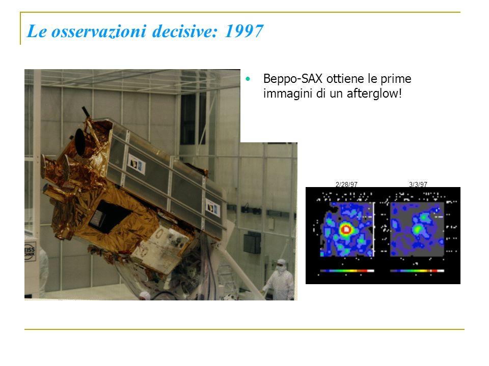 Le osservazioni decisive: 1997 Beppo-SAX ottiene le prime immagini di un afterglow! 2/28/973/3/97